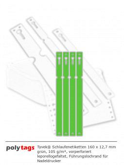 Tyvek Schlaufenetiketten 1612 grün