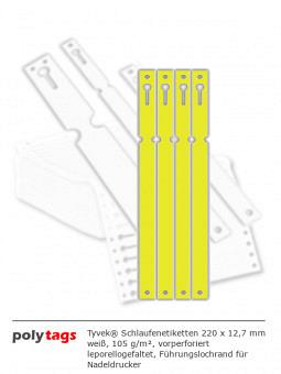 Tyvek Schlaufenetiketten 2212 gelb