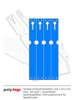 Tyvek Schlaufenetiketten 2225 blau
