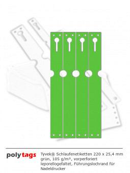 Tyvek Schlaufenetiketten 2225 grün