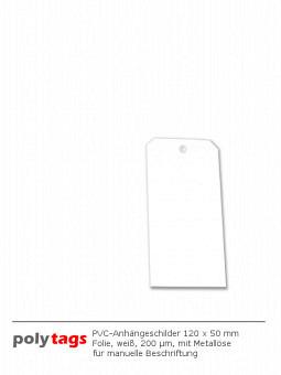 PVC-Anhängeschilder 1250 M weiß