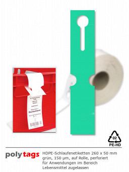 HDPE-Schlaufenetiketten 2650 grün