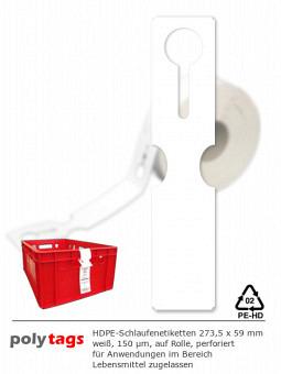 HDPE-Schlaufenetiketten 2759 weiß