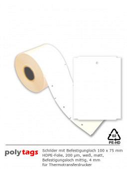 HDPE-Anhängeschilder 1075 weiß