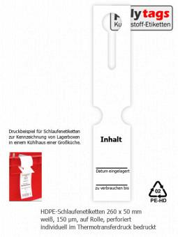 HDPE-Schlaufenetiketten 2650 TTD weiß