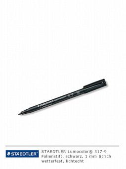 Folienschreiber 317-9, schwarz