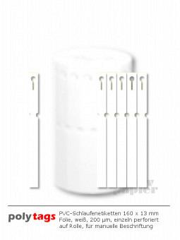 PVC-Schlaufenetiketten 1613 weiß
