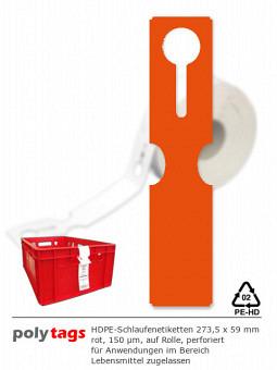 HDPE-Schlaufenetiketten 2759 rot