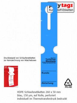 HDPE-Schlaufenetiketten 2650 TTD blau