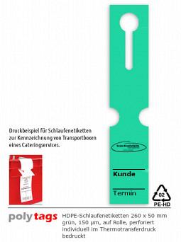 HDPE-Schlaufenetiketten 2650 TTD grün